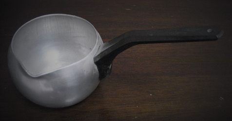 atomic coffee machine ladle shaped jug